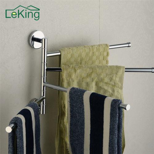 LeKing настенная поворотная вешалка держатель для полотенец в ванную комнату
