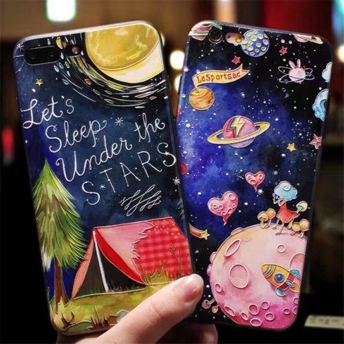 Чехол задняя крышка для айфона iPhone со звездами, космосом и планетами