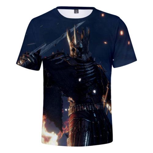 Мужская хлопковая футболка с 3D рисунками по мотивам Ведьмака/The Witcher
