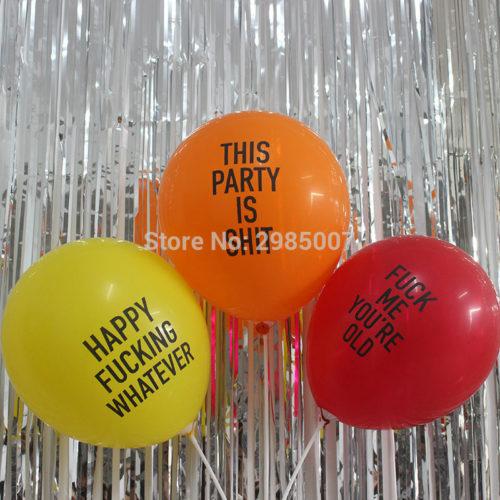 Воздушные шарики с оскорблениями 12 шт.