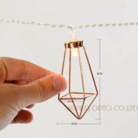 Стильная гирлянда с металлическими абажурами в стиле лофт 3.3 /1.8 м