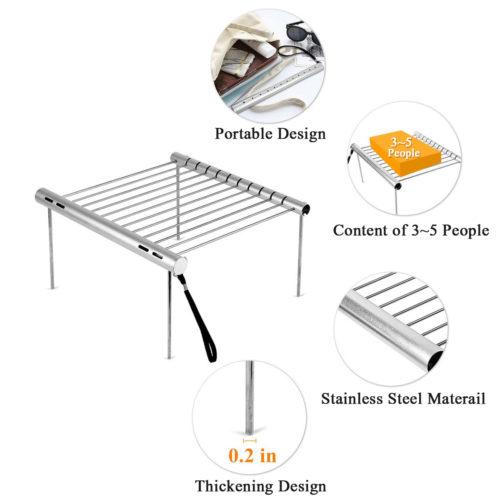 Компактная складная решетка-гриль
