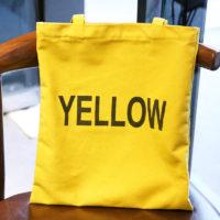 Тканевая многоразовая желтая, черная, белая или розовая эко-сумка шоппер с названиями цветов