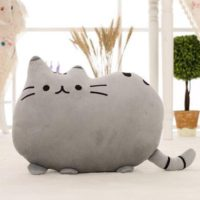 Декоративная мягкая подушка игрушка в форме Пушин Кэт (pusheen cat)