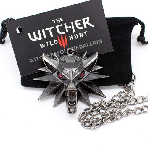 Кулон ожерелье на цепочке Ведьмак Школа Волка