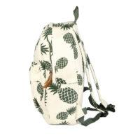 Тканевый городской школьный рюкзак с ананасами