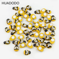 Маленькие самоклеящиеся деревянные наклейки пчелы 100 шт.