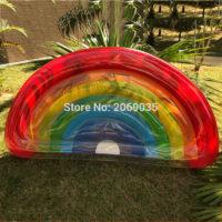 Надувной матрас в виде радуги