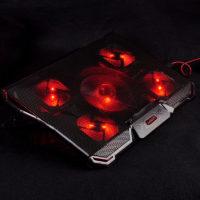 COOLCOLD Ice magic 4 Охлаждающая USB подставка кулер с 5 бесшумными вентиляторами и подсветкой для ноутбука 12-17″