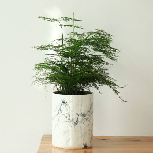 Мраморный керамический горшок ваза для цветов