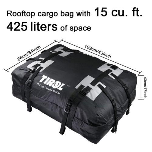 Водонепроницаемая мягкая сумка на крышу автомобиля