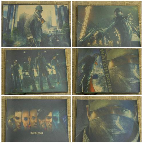 Крафтовые ретро плакаты постеры Watch Dogs 2