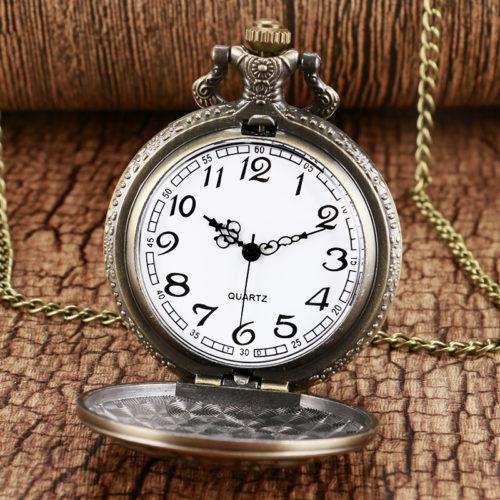 Карманные ретро часы кулон на цепочке Ведьмак