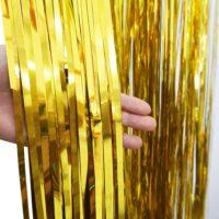 Занавес из мишуры 1×2 м для украшения праздника, фотозоны