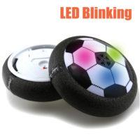Футбольный светодиодный мяч-диск ховербол аэро мяч на воздушной подушке