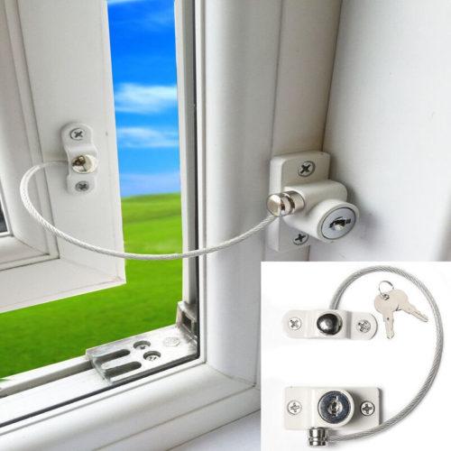 Блокировщик пластикового окна на ключе для безопасности детей