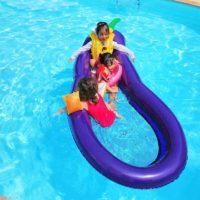 Надувной матрас круг баклажан с сеткой для плавания