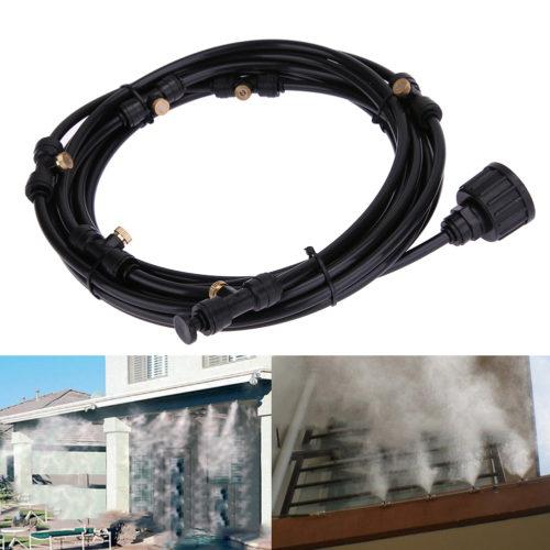 Шланг 6 м с соплами для создания системы искусственного тумана, охлаждени), очистки воздуха, создания влажности в парниках