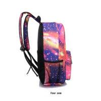 Тканевый женский школьный рюкзак с космосом