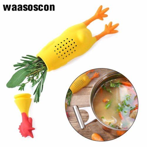 Силиконовый фильтр для приправ в виде курицы для супа