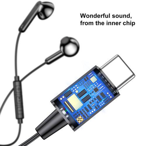 Baseus C16 наушники с Type-C разъемом, микрофоном и регулятором громкости