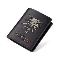 Мужской черный кошелек из искусственной кожи с логотипом Ведьмака/The Witcher