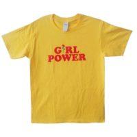 Женская серая, черная или желтая футболка с надписью Girl Power