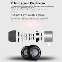 AKASO Super Bass наушники вкладыши с Type-C разъемом, микрофоном и регулятором громкости