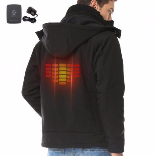 Мужская куртка ветровка с подогревом от аккумулятора