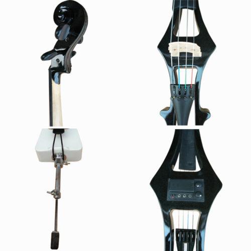 Электровиолончель с наушниками, смычком и чехлом в комплекте