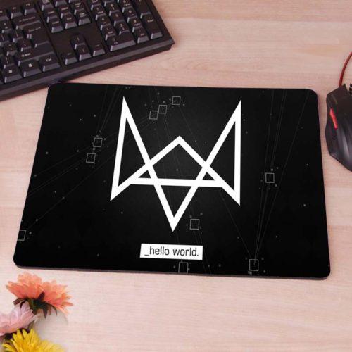 Черный коврик для компьютерной мыши Watch Dogs