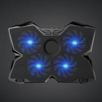 COOLCOLD Охлаждающая USB подставка кулер с 4 вентиляторами и подсветкой для ноутбука 12-17″