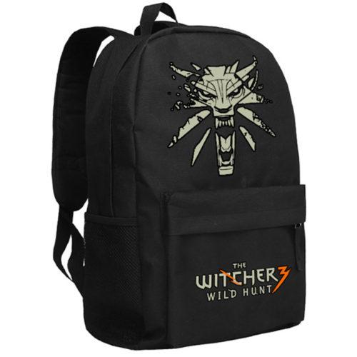 Мужской школьный тканевый рюкзак с логотипом Ведьмака/The Witcher