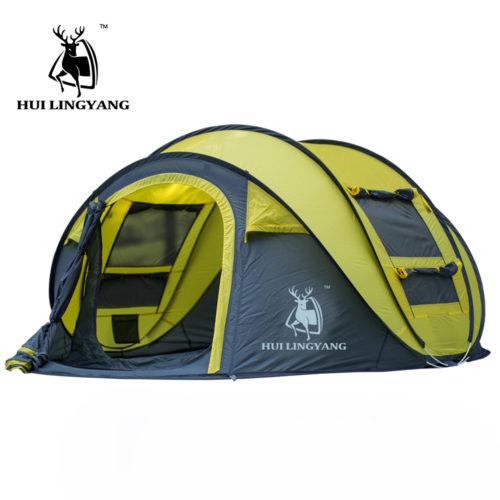 HUI LINGYANG туристическая автоматическая палатка 3-4-х местная