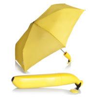 Складной желтый зонт в виде банана