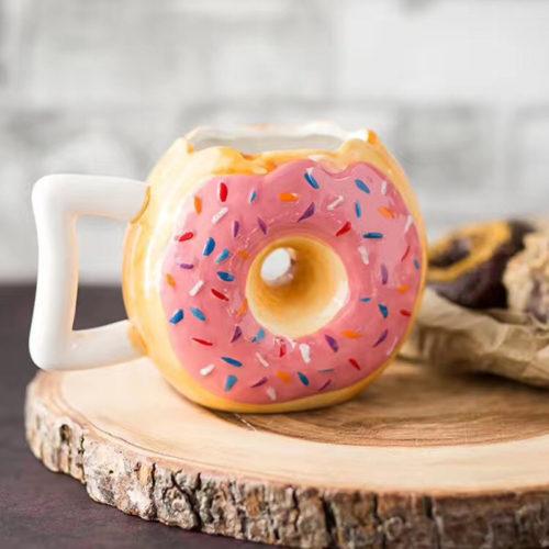 Керамическая кружка чашка в виде пончика