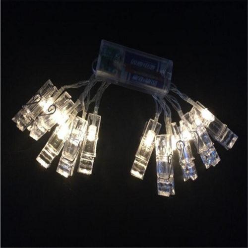 Светодиодная гирлянда со светящимися прищепками для фото