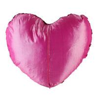 Декоративная подушка с блестками в форме сердца