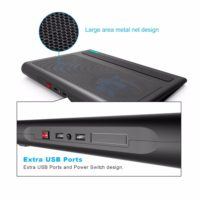 TeckNet Охлаждающая USB подставка кулер с 2 вентиляторами для ноутбука 9-16″