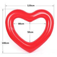 Надувное большое сердце круг для плавания