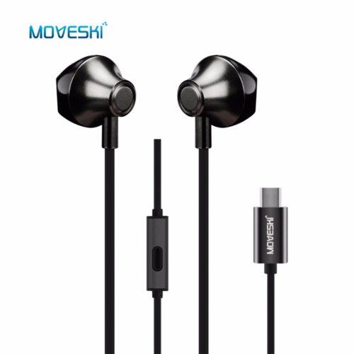 Moveski ANC наушники вкладыши с Type-C разъемом, микрофоном, регулятором громкости и активным шумоподавлением