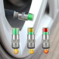 Колпачки индикаторы с цветовым датчиком давления в шинах