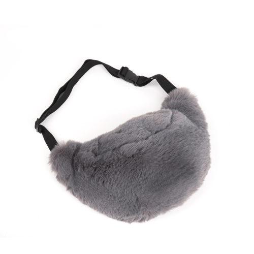 Поясная меховая сумка