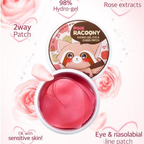 Гидрогелевые розовые патчи для кожи вокруг глаз Secret Key
