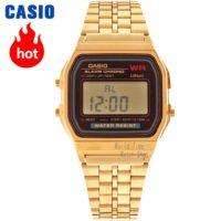 CASIO WR Оригинальные прямоугольные часы наручные мужские небольшие классические кварцевые