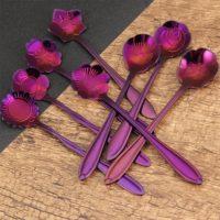 Набор чайных ложек в виде цветов 8 шт.