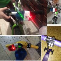 Мигалка с сиреной на детский велосипед