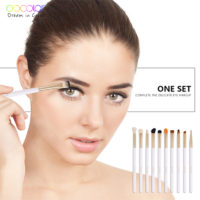 Docolor 10 шт. Набор кистей для макияжа глаз и бровей