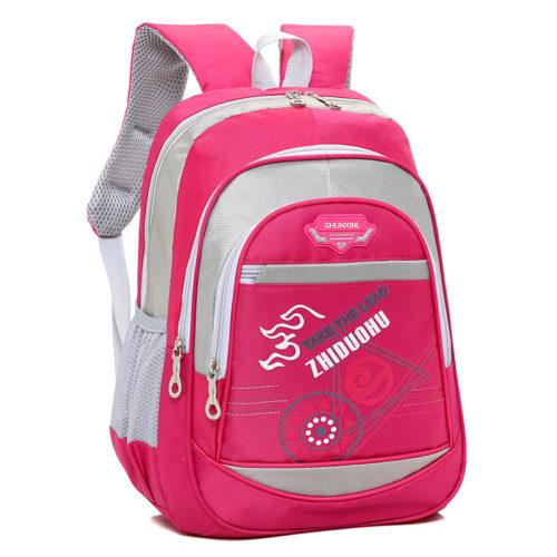 Школьный детский рюкзак для мальчиков и девочек с боковыми кармашками из сетчатой ткани
