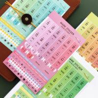 Стикеры для ведения планировщика/ежедневника с месяцами, числами, днями недели